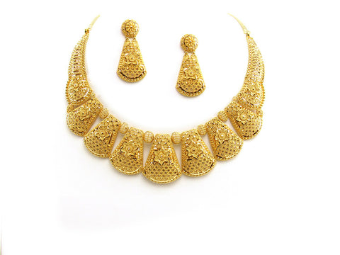 64.24g 22Kt Gold Yellow Necklace Set