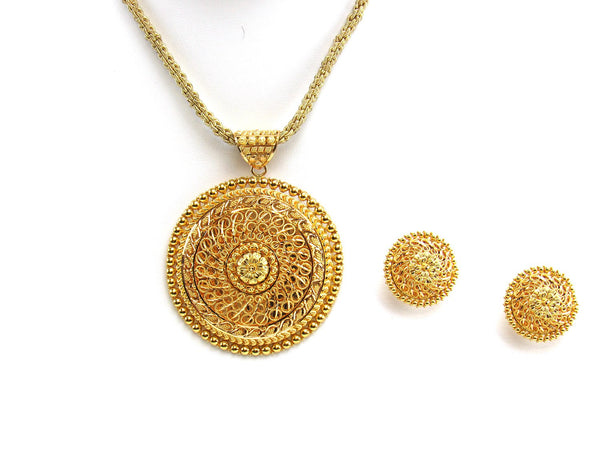 35.00g 22Kt Gold Yellow Pendant Set