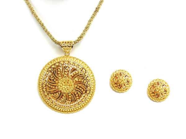 37.80g 22Kt Gold Yellow Pendant Set