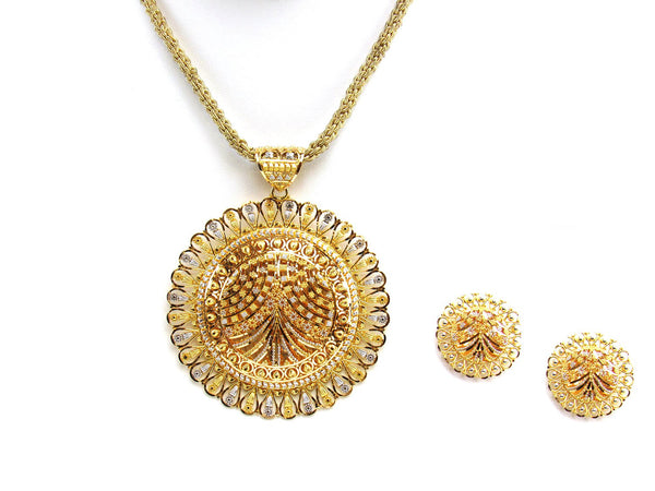 35.50g 22Kt Gold Yellow Pendant Set