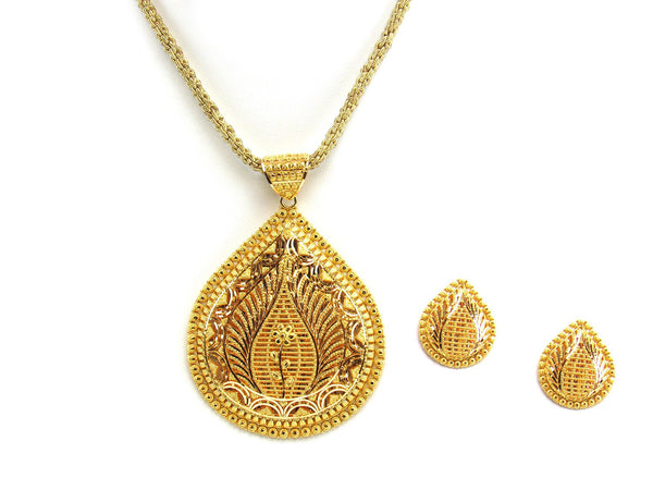 35.90g 22Kt Gold Yellow Pendant Set