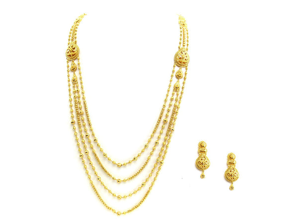92.30g 22Kt Gold Yellow Necklace Set