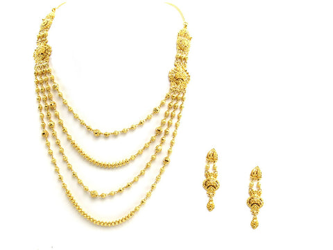 57.30g 22Kt Gold Yellow Necklace Set