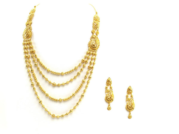 55.70g 22Kt Gold Yellow Necklace Set
