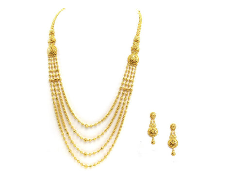 78.00g 22Kt Gold Yellow Necklace Set