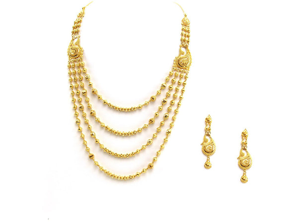 54.66g 22Kt Gold Yellow Necklace Set