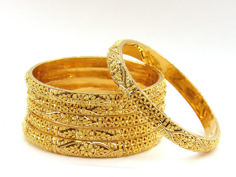 105.00g 22Kt Gold Stackable Bangle Set (Sz: 8)