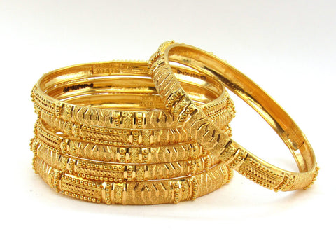 80.10g 22Kt Gold Stackable Bangle Set (Sz: 8)