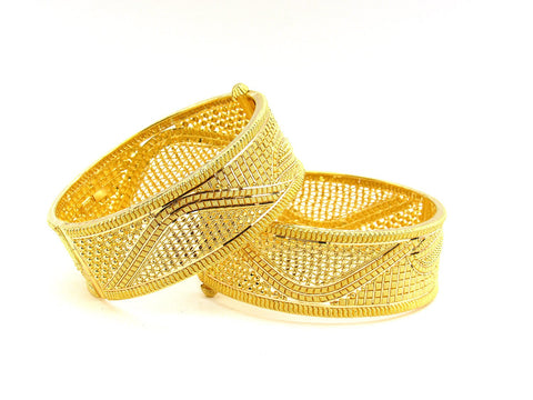 78.90g 22Kt Gold Yellow Bangle Set (Sz: 5)