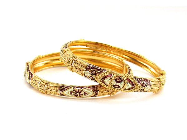 47.30g 22Kt Gold Yellow Bangle Set (Sz: 5)