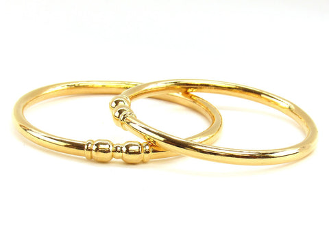 31.60g 22Kt Gold Stackable Bangle Set (Sz: 4)