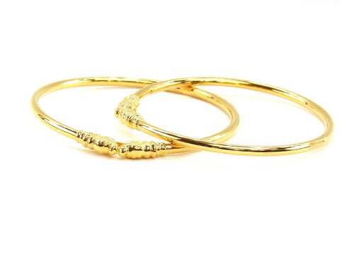 23.60g 22Kt Gold Stackable Bangle Set (Sz: 6)