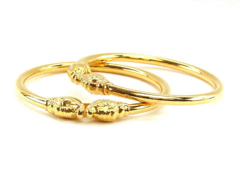 31.60g 22Kt Gold Stackable Bangle Set (Sz: 6)