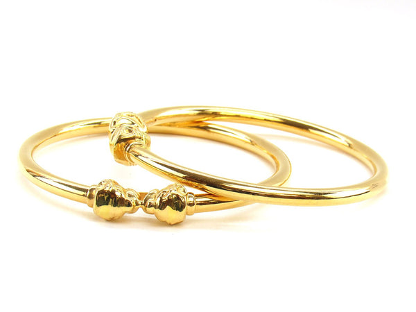 31.90g 22Kt Gold Stackable Bangle Set (Sz: 8)