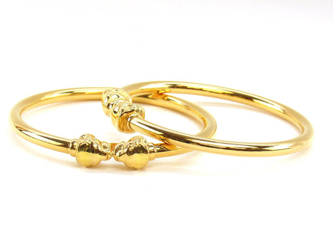 32.00g 22Kt Gold Stackable Bangle Set (Sz: 6)