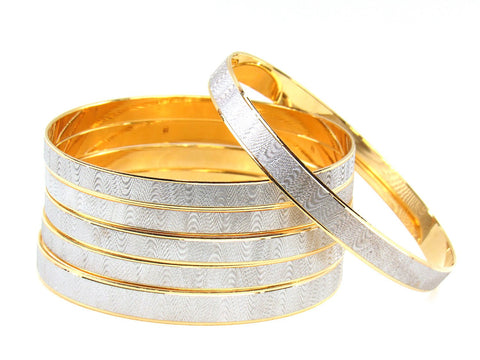 122.80g 22Kt Gold Stackable Bangle Set (Sz: 8)