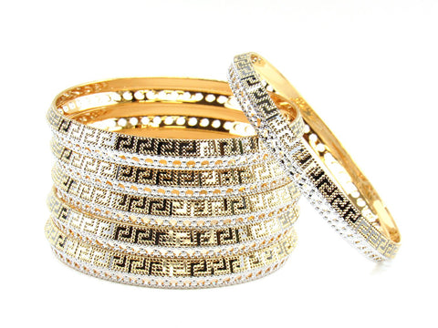 104.60g 22Kt Gold Stackable Bangle Set (Sz: 4)