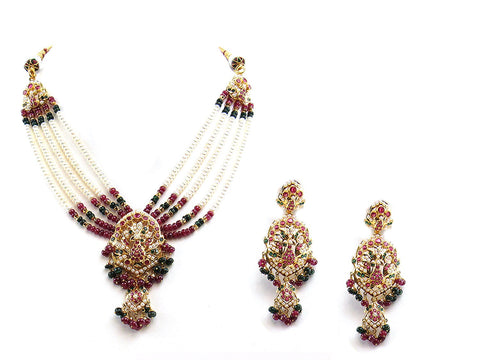 69.25g 22Kt Gold Jarou Necklace Set