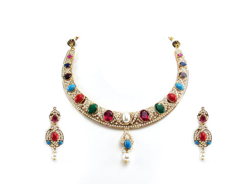 48.80g 22Kt Gold Jarou Necklace Set