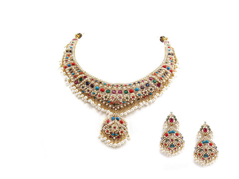 79.30g 22Kt Gold Jarou Necklace Set