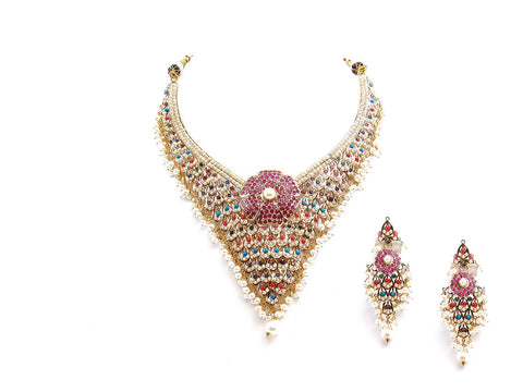 91.80g 22Kt Gold Jarou Necklace Set