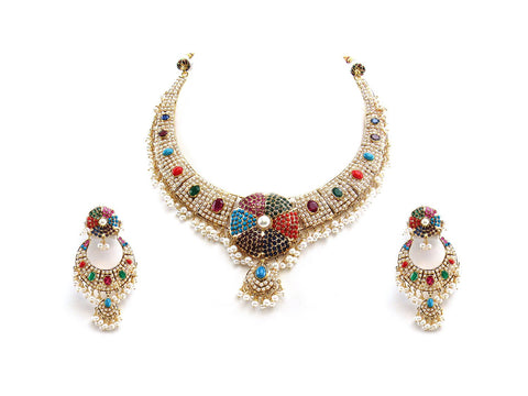 99.50g 22Kt Gold Jarou Necklace Set