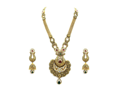 135.45g 22Kt Gold Antique Necklace Set