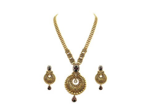 79.50g 22Kt Gold Antique Necklace Set
