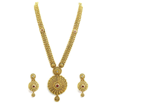 101.70g 22Kt Gold Antique Necklace Set
