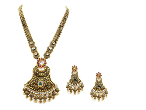 121.80g 22Kt Gold Antique Necklace Set