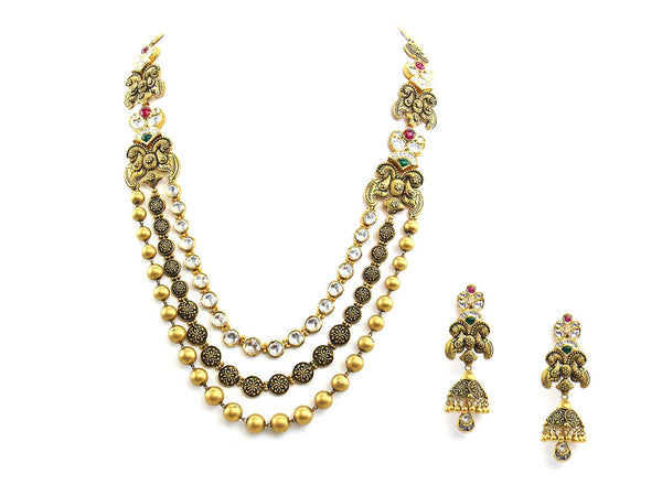 108.00g 22Kt Gold Antique Necklace Set