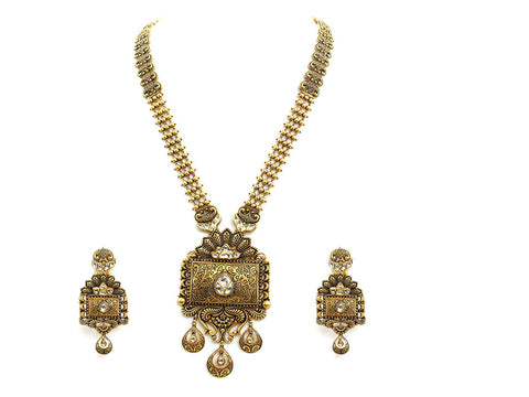 109.60g 22Kt Gold Antique Necklace Set