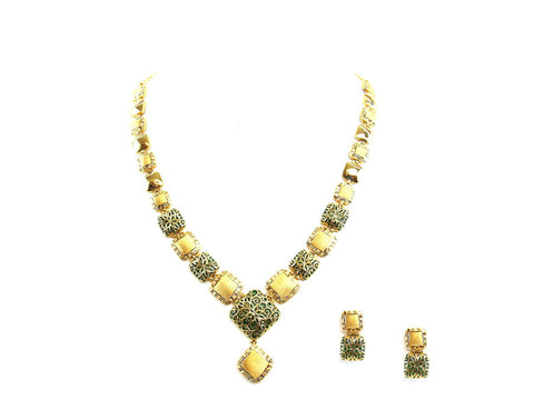 44.50g 22Kt Gold Antique Necklace Set