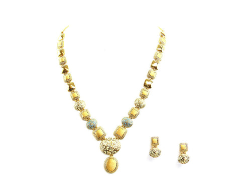 41.30g 22Kt Gold Antique Necklace Set