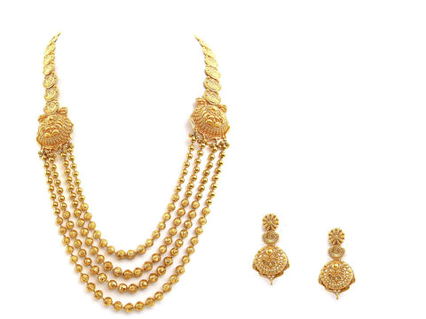 88.75g 22Kt Gold Antique Necklace Set