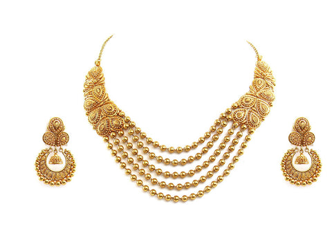 67.70g 22Kt Gold Antique Necklace Set