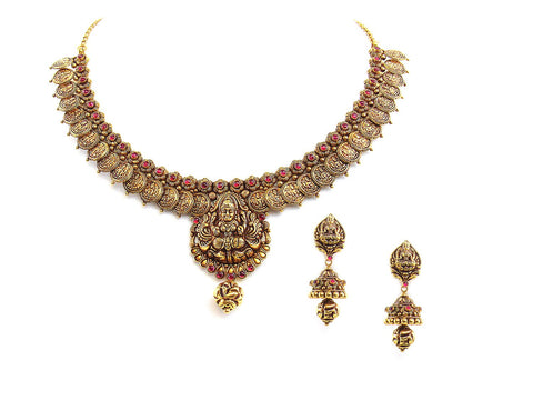 56.90g 22Kt Gold Antique Necklace Set