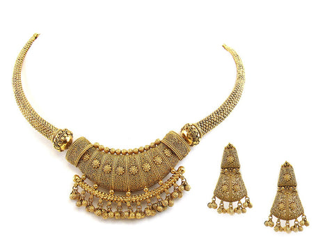56.80g 22Kt Gold Antique Necklace Set