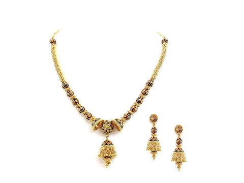 78.60g 22Kt Gold Antique Necklace Set