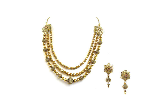 86.20g 22Kt Gold Antique Necklace Set
