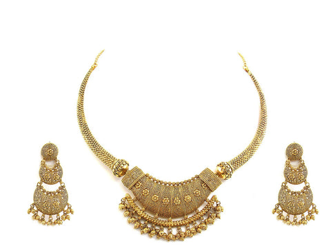 67.00g 22Kt Gold Antique Necklace Set