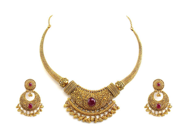 78.00g 22Kt Gold Antique Necklace Set