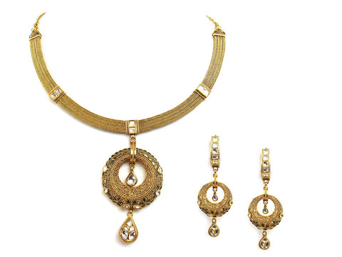 84.20g 22Kt Gold Antique Necklace Set
