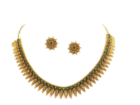 52.80g 22Kt Gold Antique Necklace Set