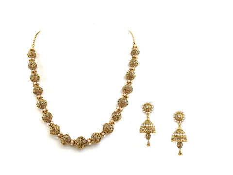 64.20g 22Kt Gold Antique Necklace Set