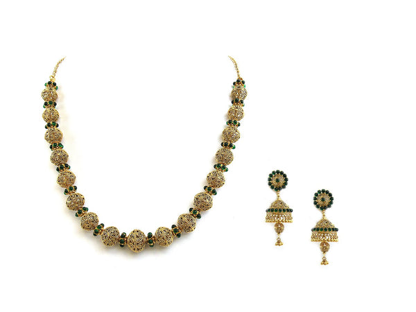 66.70g 22Kt Gold Antique Necklace Set