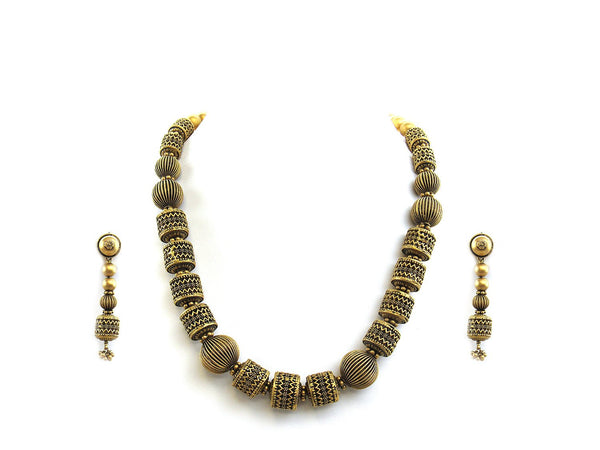 98.60g 22Kt Gold Antique Necklace Set