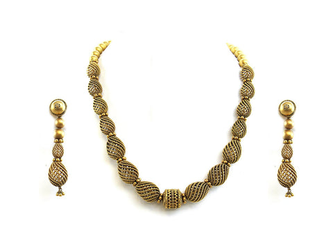 117.15g 22Kt Gold Antique Necklace Set