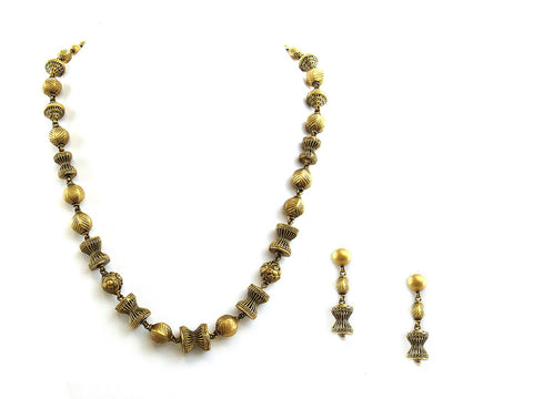 58.95g 22Kt Gold Antique Necklace Set