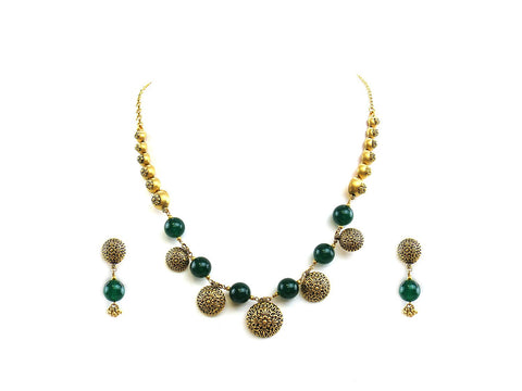 31.05g 22Kt Gold Antique Necklace Set